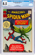 Silver Age (1956-1969):Superhero, The Amazing Spider-Man #7 (Marvel, 1963) CGC VF+ 8.5 Off-white to white pages....