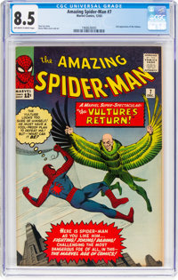 The Amazing Spider-Man #7 (Marvel, 1963) CGC VF+ 8.5 Off-white to white pages