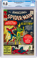 Silver Age (1956-1969):Superhero, The Amazing Spider-Man #9 (Marvel, 1964) CGC VF/NM 9.0 Off-white towhite pages....