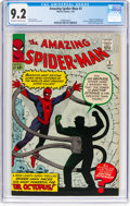 Silver Age (1956-1969):Superhero, The Amazing Spider-Man #3 (Marvel, 1963) CGC NM- 9.2 Off-white to white pages....
