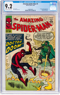 The Amazing Spider-Man #5 (Marvel, 1963) CGC NM- 9.2 Off-white to white pages