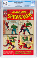 Silver Age (1956-1969):Superhero, The Amazing Spider-Man #4 (Marvel, 1963) CGC VF/NM 9.0 Off-white to white pages....