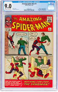 The Amazing Spider-Man #4 (Marvel, 1963) CGC VF/NM 9.0 Off-white to white pages