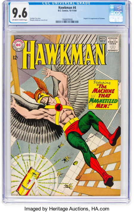 Hawkman #4 (DC, 1964) CGC NM+ 9.6 Off-white to white pages....