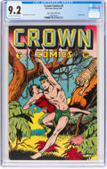 Golden Age (1938-1955):Adventure, Crown Comics #5 Mile High Pedigree (Golfing/McCombs Publishing, 1946) CGC NM- 9.2 Off-white to white pages....