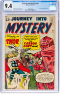 Silver Age (1956-1969):Superhero, Journey Into Mystery #90 (Marvel, 1963) CGC NM 9.4 Off-white to white pages....