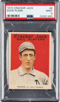 Baseball Cards:Singles (Pre-1930), 1915 Cracker Jack Eddie Plank #6 PSA Mint 9 - Pop Two, None Higher....