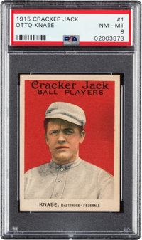 1915 Cracker Jack Otto Knabe #1 PSA NM-MT 8 - Pop Five, One Higher