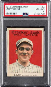 1915 Cracker Jack Larry Doyle #4 PSA NM-MT 8 - None Higher
