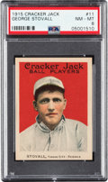 Baseball Cards:Singles (Pre-1930), 1915 Cracker Jack George Stovall #11 PSA NM-MT 8 - Only One Higher. ...