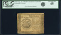 Colonial Notes:Continental Congress Issues, Continental Currency September 26, 1778 $50 Contemporary Counterfeit PCGS Extremely Fine 45.. ...