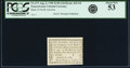 Colonial Notes:Pennsylvania, Pennsylvania August 6, 1789 $1/90 PCGS About New 53.. ...