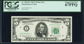 Fr. 1968-I* $5 1963A Federal Reserve Star Note. PCGS Superb Gem New 67PPQ