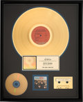 Music Memorabilia:Awards, Beatles Early Beatles RIAA Hologram Gold Album Sales Award....