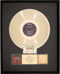 Music Memorabilia:Memorabilia, Beach Boys Still Cruisin' RIAA Hologram Gold Sales Award (C1-92639)....