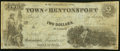 Obsoletes By State:Iowa, Bentonsport, IA - Town of Bentonsport $2 Aug., 1857 Oakes 8-2 VeryGood-Fine.. ...