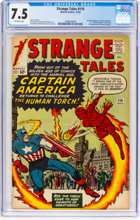 Strange Tales #114 (Marvel, 1963) CGC VF- 7.5 Off-white pages
