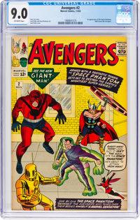 The Avengers #2 (Marvel, 1963) CGC VF/NM 9.0 Off-white pages