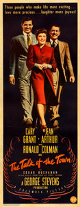 """Movie Posters:Comedy, The Talk of the Town (Columbia, 1942). Fine+ on Paper. Insert (14"""" X 36"""").. ..."""