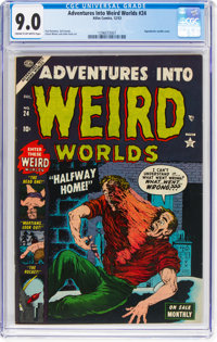 Adventures Into Weird Worlds #24 (Atlas, 1953) CGC VF/NM 9.0 Cream to off-white pages