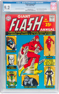 Silver Age (1956-1969):Superhero, The Flash Annual #1 (DC, 1963) CGC NM- 9.2 Off-white to wh...