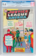 Silver Age (1956-1969):Superhero, Justice League of America #28 (DC, 1964) CGC NM 9.4 Off-wh...