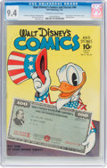 Golden Age (1938-1955):Cartoon Character, Walt Disney's Comics and Stories #46 (Dell, 1944) CGC NM 9.4 Off-white to white pages....