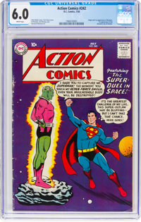 Action Comics #242 (DC, 1958) CGC FN 6.0 White pages
