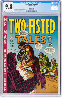 Two-Fisted Tales #19 Gaines File Pedigree 8/10 (EC, 1951) CGC NM/MT 9.8 Off-white to white pages