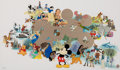 """Animation Art:Seriograph, """"Welcoming a New Millennium"""" Mickey Mouse and Others Limited Edition Sericel #928/2000 (Walt Disney, 1999)...."""