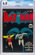 Golden Age (1938-1955):Superhero, Batman #3 (DC, 1940) CGC FN 6.0 Cream to off-white pages....