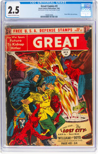 Great Comics #3 (Great Comics Publications, 1942) CGC GD+ 2.5 Cream to off-white pages