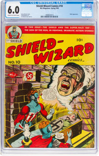 Shield-Wizard Comics #10 (MLJ, 1943) CGC FN 6.0 Cream to off-white pages