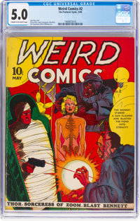 Weird Comics #2 (Fox Features Syndicate, 1940) CGC VG/FN 5.0 Cream to off-white pages