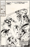 Original Comic Art:Covers, Mark Bagley and Larry Mahlstedt New Warriors #11 Cover Original Art (Marvel, 1991)....