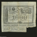 Confederate Notes:Group Lots, Ball 201 $1000 Confederate Bond....