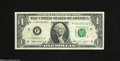 Error Notes:Blank Reverse (<100%), Fr. 1908-F $1 1974 Federal Reserve Note. Very Fine....