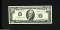 Error Notes:Offsets, Fr. 2024-G $10 1977A Federal Reserve Note. About Uncirculated....
