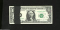 Error Notes:Ink Smears, Fr. 1905-D $1 1969B Federal Reserve Note. Gem CrispUncirculated....