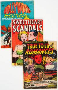 Golden Age Romance Comics Group of 4 (Various Publishers, 1940s-50s) Condition: Average FR/GD.... (Total: 4 Comic Books)