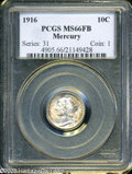 Mercury Dimes: , 1916 10C MS66 Full Bands PCGS. ...
