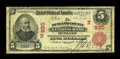 National Bank Notes:Vermont, Rutland, VT - $5 1902 Red Seal Fr. 587 The Rutland County NB Ch. # (N)820. ...