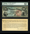 Large Size:Legal Tender Notes, Fr. 96 $10 1869 Legal Tender PMG Uncirculated 62....