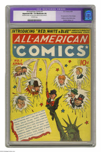 All-American Comics #1 (DC, 1939) CGC Apparent FN- 5.5 Moderate (A) Off-white pages. Though we call this a DC comic toda...