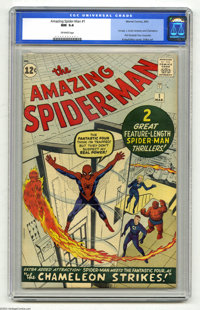 The Amazing Spider-Man #1 (Marvel, 1963) CGC NM 9.4 Off-white pages. Spider-Man is not only Marvel's most famous and end...