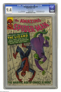 Silver Age (1956-1969):Superhero, The Amazing Spider-Man #6 (Marvel, 1963) CGC NM 9.4 Off-whitepages. This beautiful copy features the first appearance of on...