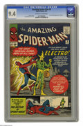 Silver Age (1956-1969):Superhero, The Amazing Spider-Man #9 (Marvel, 1964) CGC NM 9.4 Off-white to white pages. Electro appears and reveals his origin to the ...
