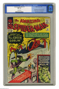 Silver Age (1956-1969):Superhero, The Amazing Spider-Man #14 (Marvel, 1964) CGC NM 9.4 Off-whitepages. While almost every early issue of this title introduce...