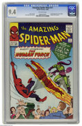 Silver Age (1956-1969):Superhero, The Amazing Spider-Man #17 (Marvel, 1964) CGC NM 9.4 Off-whitepages. Green Goblin appearances have been much sought-after s...