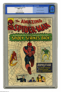 The Amazing Spider-Man #19 (Marvel, 1964) CGC MT 9.9 Off-white to white pages. That's not a misprint, tiger, this is a M...